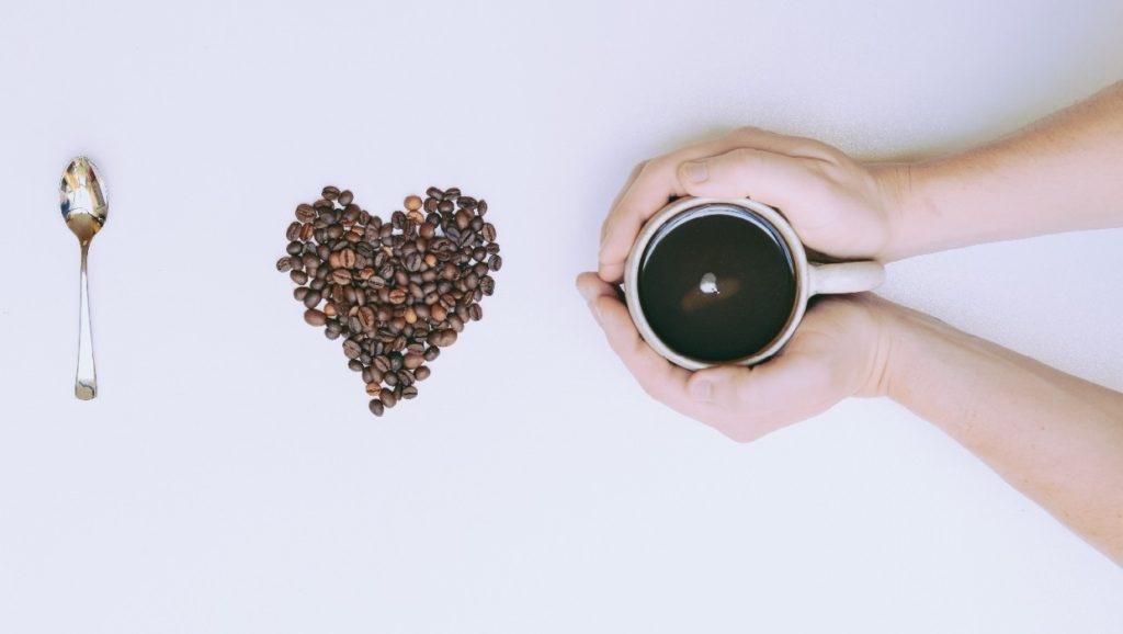 café em grão coração