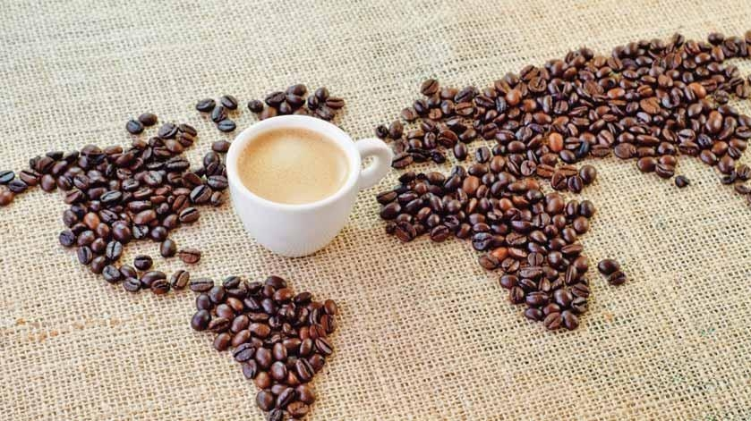 Mapa mundi café